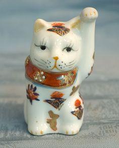 Maneki Neko - Painted Porcelain.