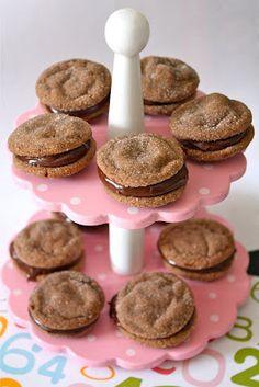 Nutella cookies + Chocolate ganache