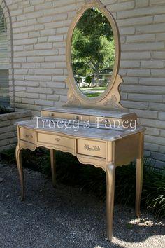 Custom Painted Vanity MADE TO ORDER. $750.00, via Etsy.