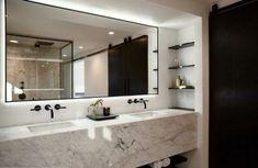 Home Interior Boho Teresa Xu designs San Diego Residence interiors for well-travelled client Bad Inspiration, Bathroom Inspiration, Interior Inspiration, Modern Bathroom, Master Bathroom, Bathroom Marble, Master Baths, Bathroom Black, Floor Sink