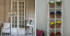 using old doors as wall decor - Google Search