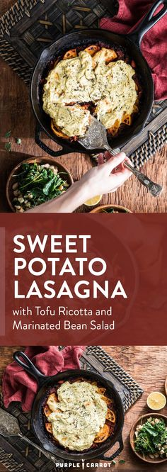 Sweet Potato Lasagna #vegan #dairyfree #lactosefree #dinner | Purple Carrot