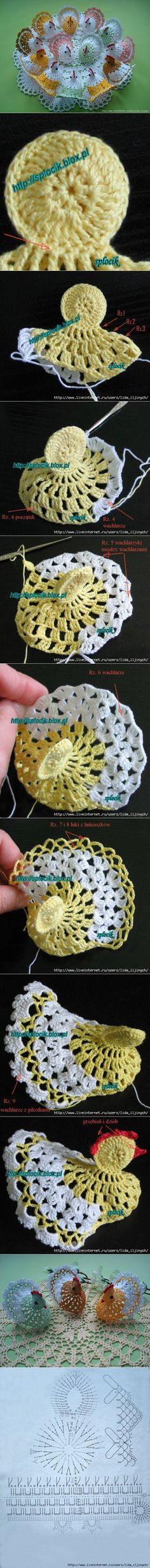 DIY Cute Crochet Chick Decor | www.FabArtDIY.com LIKE Us on Facebook ==>…