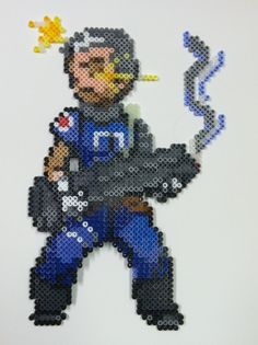 Cable perler beads by thewiredslain on deviantART