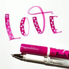 "386 Likes, 4 Comments - Prisletters (@prisletters) on Instagram: ""Love, love, love! Marker Ecoline brushpen Day 11 of For #happyletteringchallenge With…"""