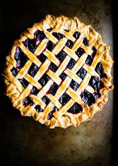 Blackberry pie - this was definitely a lot easier than it looked! it came out great!