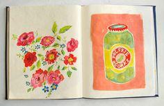 Studio Sjoesjoe: Beautiful sketchbook by Danielle Kroll