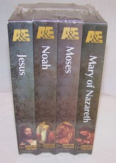 A&E Biography - 4 VHS Tape Set - Jesus / Mary of Nazareth / Noah / Moses - Bible #vintagephilly