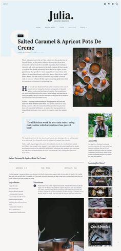 WordPress Magazine Theme Website Templates from ThemeForest - Wordpress Magazine. and wine Magazine Recipes Recipes design Recipes desserts Recipes layout Recipes organization Magazine Recipes Webdesign Inspiration, Blog Design Inspiration, Wordpress Theme Design, Premium Wordpress Themes, Blog Layout, Layout Design, Web Design Tips, Creative Design, Food Design