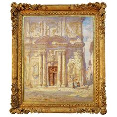"""Cathedral at Le Martiques"" painting by Colin Campbell Cooper 