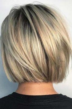 Short and cheeky Blunt Bob Haircut # Bobhair cuts # Haircuts … Kurzer und frecher stumpfer Bob-Haarschnitt # Graduated Bob Haircuts, Blunt Bob Haircuts, Short Bob Hairstyles, Neck Length Hairstyles, Short Blunt Haircut, Short Blunt Bob, Hairstyles Haircuts, Medium Hairstyles, Short Graduated Bob