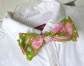Mens Lilly Pulitzer Bow Tie Handmade in Shrimp Cocktail