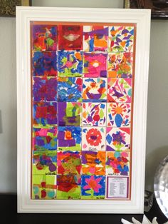 I had each one of my students modge podge a ceramic tile. I used liquid nails to mount the tiles onto a large board, built the frame and painted it white. Classroom Projects, Class Projects, Art Classroom, Classroom Ideas, Auction Ideas, Art Auction, Preschool Art, Preschool Activities, Mural Ideas