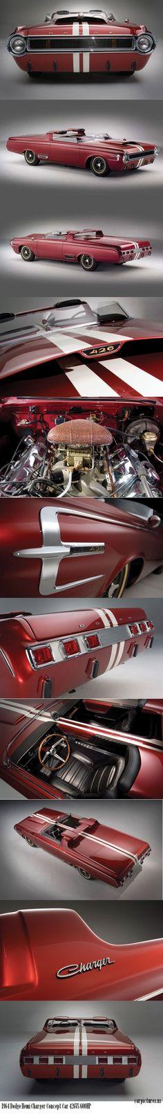 1964 Dodge Hemi Charger Concept Car. 426 Hemi, 600HP.