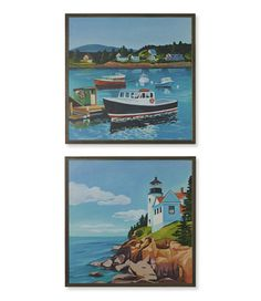 Cathering Breer Acadia Print Bass Harbor Set of Two