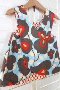 Girls crossover pinafore dress DIY pattern