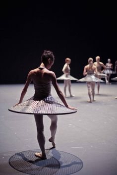 Letizia Galloni in rehearsal for Millepied's Clear, Loud, Bright Forward  ph. Emmanuel Guionet/Falabracks