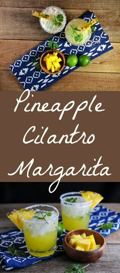 Pineapple Cilantro Margarita - Pineapple, cilantro, tequila, tequila drinks, lime, craft cocktail, margaritas, craft cocktail recipes, craft cocktails bartender, craft cocktails & mixology, easy, recipes, on the rocks, margarita recipe Craft Cocktails, Cocktail Desserts, Best Cocktail Recipes, Cocktail Parties, Party Food And Drinks, Fun Drinks, Yummy Drinks, Cilantro, Tequila Drinks