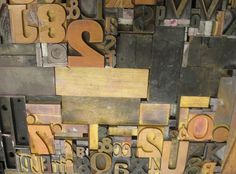 Tuesday Typeface: Wood type
