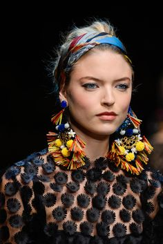 Dolce and Gabbana Spring 2013 - Earrings