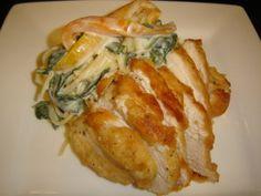 Olive Garden Tuscan Garlic Chicken http://www.food.com/recipe/olive-garden-tuscan-garlic-chicken-126789