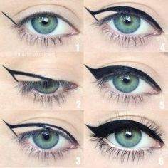 winged-eyeliner-is-a-whole-lot-easier-with-this-trick