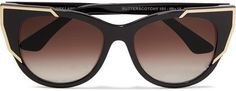 Thierry Lasry - Butterscotchy Cat-eye Acetate And Gold-plated Sunglasses - Black