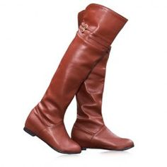 AWESOME WEBSITE!!! Dangerous though :) $24.87 Casual Women's Knee Boots With PU Leather Solid Color Belts Design