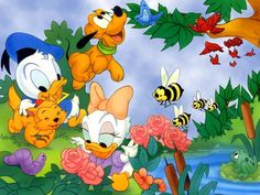 daisey images | Baby Donald and Baby Daisy Wallpaper - Donald Duck Wallpaper (6040435 ...