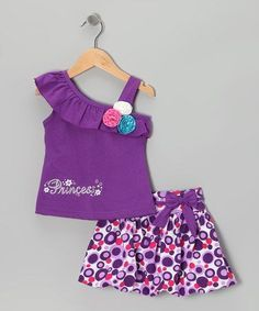 a look at this Purple 'Princess' Tank & Bubble Skirt - Infant, Toddler & Girls by Littoe Potatoes on today! Frocks For Girls, Kids Frocks, Baby Girl Dress Patterns, Little Girl Dresses, Baby Girl Fashion, Kids Fashion, Girls Frock Design, African Dresses For Kids, Baby Frocks Designs