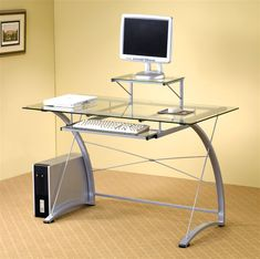 99+ Glass top Home Office Desk - Large Home Office Furniture Check more at http://www.sewcraftyjenn.com/glass-top-home-office-desk/