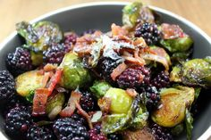 Blackberry Bacon Brussel Sprouts via Whit's Amuse Bouche
