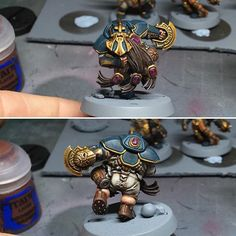 So after much nagging by @martin_waller_figurepainter I thought I'd do a blood bowl team #warhammer #wargaming #warhammer40k #warhammer30k #warhammer40000 #bloodbowl #dwarfgiants #paintingwarhammer #paintingminiatures #tabletopgames #tabletopgaming #art