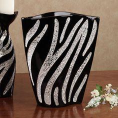 Kalahari Chic Zebra Decorative Accent Vase. I just can't even, like woah, so fricken adorable