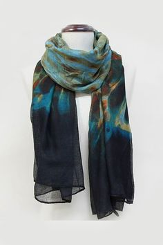 McKayla Scarf in Teal Sepia