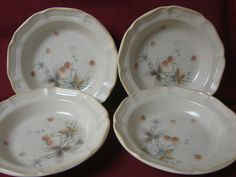 Mikasa, Dinnerware, Country Charm, Berry Vale. Pattern # FG001. 4 soup bowls.  #mikasa #Mikasa