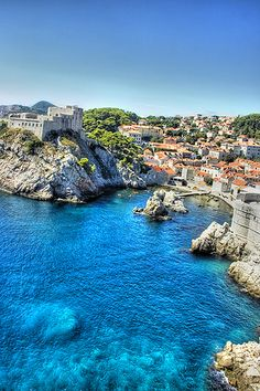 I ate at the restaurant on the cliff on the right of this photo... wonderful view and wonderful food...Dubrovnik, Croatia