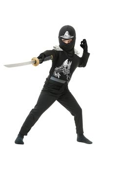 Black Ninja Avengers Series II Child Costume