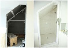 from the nato's: attic renovation. before and after pictures.