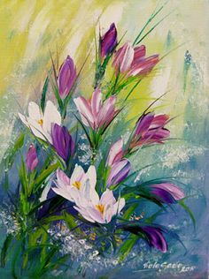 "Photo from album ""Viola Sado"" on Yandex. Painting & Drawing, Watercolor Paintings, Realistic Paintings, Acrylic Painting Techniques, Diy Canvas Art, Arte Floral, Abstract Flowers, Acrylic Art, Love Art"