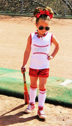 Baseball Sister Set