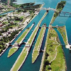 """""""Soo"""" Locks, Sault Saint Marie Michigan. My uncle worked there! Visited a few times."""