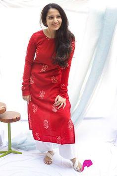 Silk Kurti Designs, Simple Kurta Designs, Kurta Designs Women, Kurti Designs Party Wear, Blouse Designs, Stylish Kurtis Design, Stylish Dress Designs, Designs For Dresses, Stylish Dresses