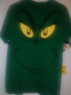 The Grinch Stole Christmas Dr. Seuss Book Cartoon Movie Medium Green T-Shirt #DrSeuss #GraphicTee