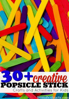 30+ Popsicle Stick Crafts for Kids - From ABCs to ACTs