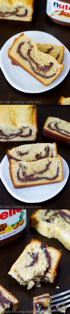 Nutella Swirl Pound Cake. – Let's face it, Nutella is bringing chocolate to a whole new level.