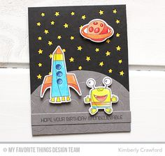 Out of This World, Out of This World Die-namics, Stars in the Sky - Vertical Die-namics, Jumbo Polka Dot Stencil - Kimberly Crawford  #mftstamps