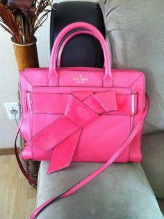 d3bed80f5b Kate Spade Valley Bow Rosa  399 Hot Pink Leather Tote Satchel Crossbody  Handbag