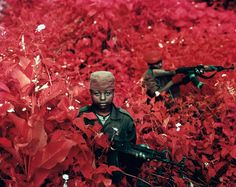 Richard Mosse – armed with dead-stock Kodak infrared film (originally developed to detect camouflage for military aerial surveillance)— ventured into the heart of the Congo to take some pictures.