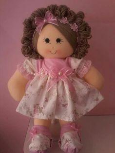 Doll Toddler Dolls, Baby Dolls, Doll Clothes Patterns, Doll Patterns, My Child Doll, Sewing Dolls, Waldorf Dolls, Doll Hair, Soft Dolls
